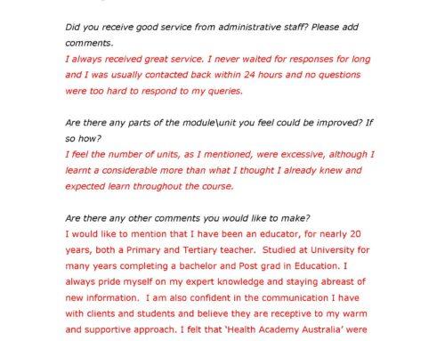 Student Feedback Part 2